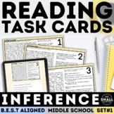 Inference and Text Evidence Task Cards | Print & Digital