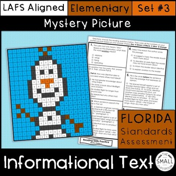 FSA Informational Text Mystery Picture Set 3 Grades 3-5