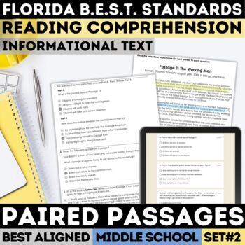 FSA Informational Text Practice Test Set 2 (Florida Standards Assessment)