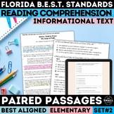 FSA Informational Text Practice Test   Grade 3-5   Print & Google Forms