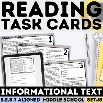 FSA Informational Text Task Cards (Florida Standards Assessment)