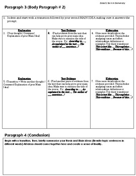 FSA Informative Essay Planning Made Easy