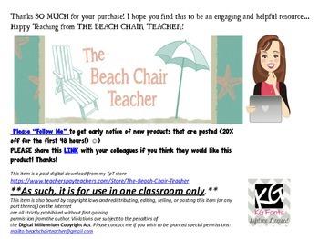 FSA Informative - Explanatory Writing Rubric - Student-Friendly Checklist!
