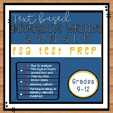 FSA Informative Writing Test Prep Grades 9-12: Analyzing Prompts and Planning