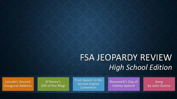 NEWSET & LATEST!! FSA Jeopardy Review High School Edition 2018