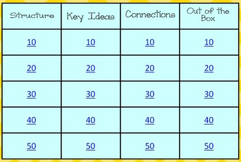 FSA Jeopardy for ELA skills