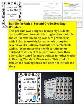 FSA Jumpstart Bundle - Second Grade - Reading Wonders - Unit 6
