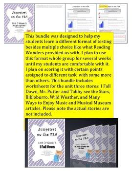 FSA Jumpstart- Second Grade - Reading Wonders - Unit 3 Bundle