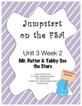 FSA Jumpstart- Second Grade - Reading Wonders - Unit 3 Week 2 - Mr. Putter