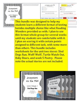 FSA Jumpstart- Second Grade - Reading Wonders - Unit 2 - Bundle