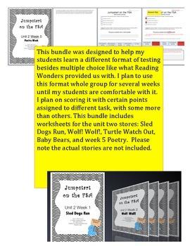 FSA Jumpstart- Second Grade - Reading Wonders - Unit 2 - Bundle
