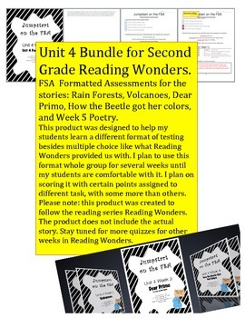 FSA Jumpstart- Second - Reading Wonders - Unit 4 Bundle