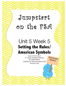 FSA Jumpstart - Second - Wonders - Unit 5 Week 5 - Setting Rules/ Symbols