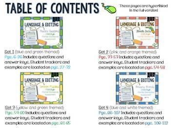 FSA Language and Editing Tasks BUNDLE {Sets 1-4}