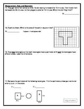 FSA MAFS 3rd Grade Test Prep 6- Common Core Aligned