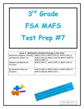 FSA MAFS 3rd Grade Test Prep 7-Common Core Aligned