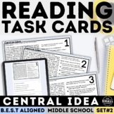 Central Idea Task Cards   Informational Text   Print & Google Forms