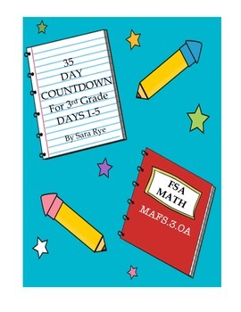Third Grade FSA Assessment Math 35 Day Countdown Days 1-5