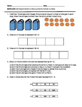 FSA Math 3rd Grade Test Prep