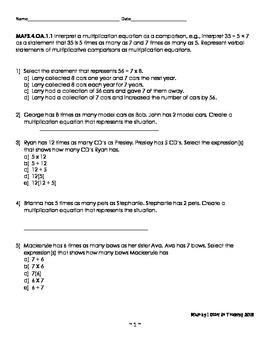 FSA Math 4th Grade Test Prep
