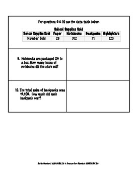 FSA Math Assessment – MAFS.5.NBT.2.6 {Form B}