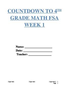 FSA Math Countdown Week 1 (Fourth Grade)