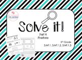 FSA Math Test Fractions Word Problems 40 FSA/CC (NF.1-3) 3rd grade Part 4