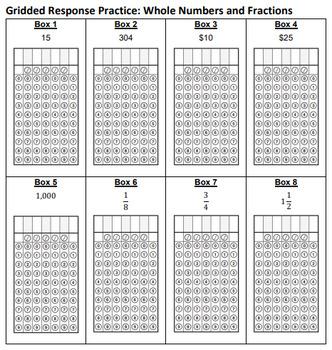 FSA Math Gridded Response Practice, 3rd Grade Math FSA ...