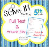 FSA Math Test Prep 5th Grade FULL Test + Answer Key