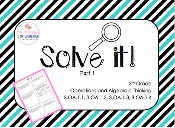 FSA Math Test Word Problems 30 FSA / CC (OA.1 standards) 3rd Grade Part 1