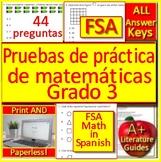 3rd Grade FSA Math in Spanish: Pruebas de práctica de matemáticas Grado 3