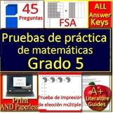 5th Grade FSA Math in Spanish: Pruebas de práctica de matemáticas Grado 5
