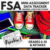 FSA Mini-Assessment Data Tracker for Lit Standards, ELA 6-12
