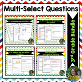 FSA 3rd Grade Multi Select Questions BUNDLE(Measure, Base10, Algebra, Fractions)