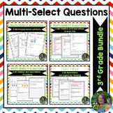 3rd Grade Math Multi Select Questions Test Prep BUNDLE