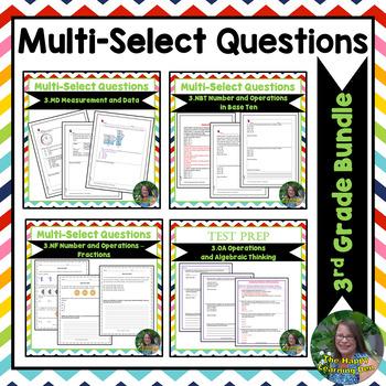3rd Grade Multi-Select Questions BUNDLE(Measurement,Base 1