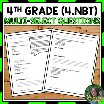 4th Grade Number and Operations in Base Ten Test Prep
