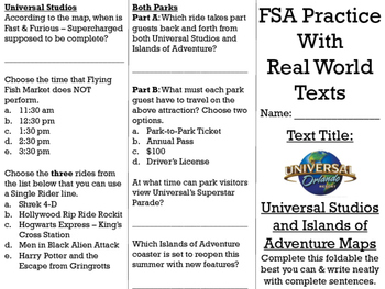 FSA/PARCC Real World Text Practice - Universal Studios and
