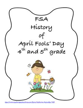 FSA PREP - FSA Reading - 5th and 4th grade - April Fools' Day