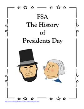 FSA PREP - FSA Reading - 5th and 4th grade - President's Day - History