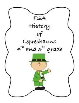 FSA PREP - FSA Reading - 5th and 4th grade - St. Patrick's Day Leprechauns