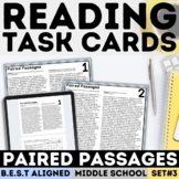 Paired Passages Task Cards   Print & Google Forms