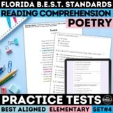 FSA Poetry Practice Test | Reading Comprehension | Grades 3-5 | Print & Google