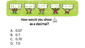 FSA Power Point Review (Tenths and Hundredths/Measurement/Word Problems)