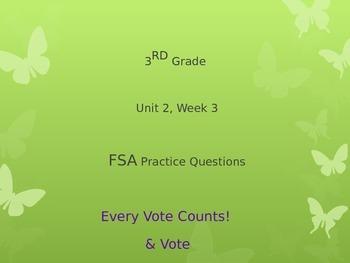 FSA Practice 3rd Grade - Reading Wonders Unit 2, Week 3