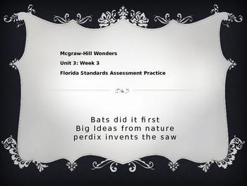 FSA Practice 3rd Grade - Reading Wonders Unit 3, Week 4