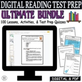 CCSS ELA Reading Test Prep ULTIMATE BUNDLE 100 Days Lessons Quizzes Activities