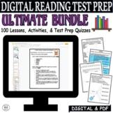 Test Prep 100 Lessons Reading Comprehension Passages Questions Digital Bundle