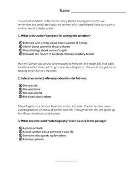 FSA Practice - Question Types