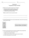 """FSA Practice Quiz """"Amazing Animals of the Mojave"""" Reading Wonders Anthology"""